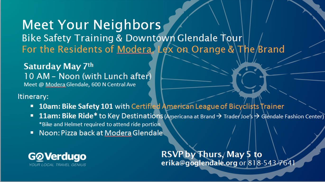 Meet Your Neighbors Ride (May 7 2016)